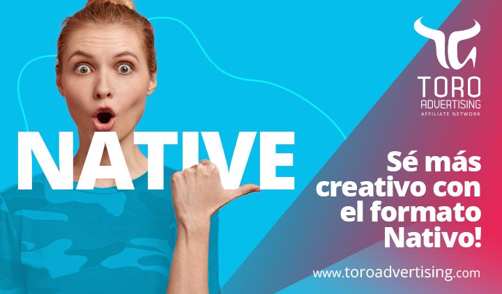 Sé más creativo con la publicidad nativa
